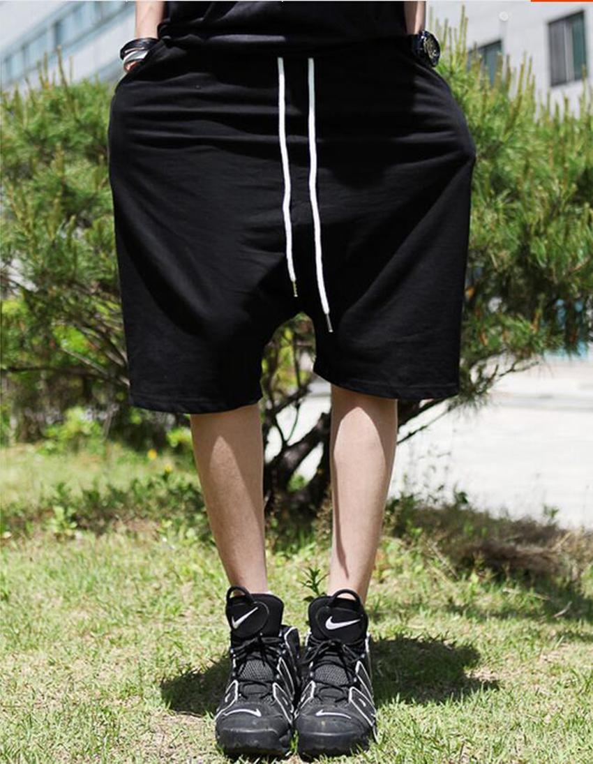 남성과 여성의 패션 성격을 길러주는 봄의 패션 버전 힙합 거리 할란 5 분 바지 / 커스텀