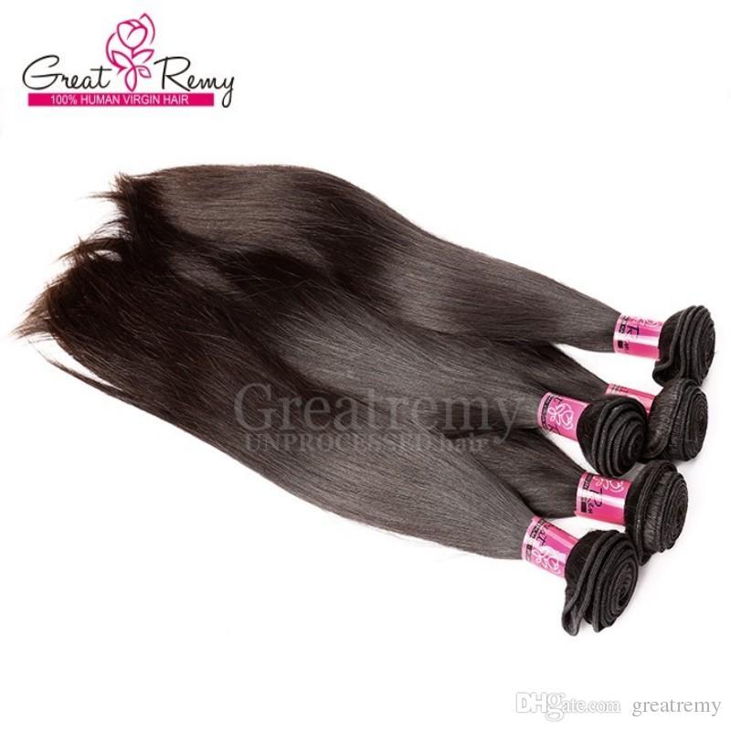 """4 pçs / lote comprimento misto 100% peruano não processado extensão de cabelo humano 8 """"-30"""" Praia do cabelo de onda de corpo peruano tecelagem natural da cor natural Greaturemy"""