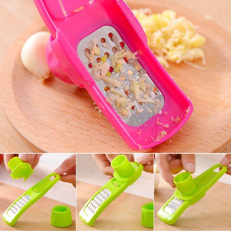 Kreative einfache Grind Knoblauch Ingwer Presse Gerät Küche Werkzeug Schleifen Reibe # R571