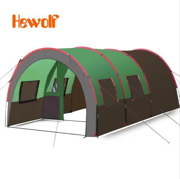 Hewolf От 8 До 10 Человек 2 Спальни 1 Гостиная Водонепроницаемый Компания Команда Семейная Вечеринка Пешие Прогулки Рыбалка Пляж Открытый Кемпинг Палатка