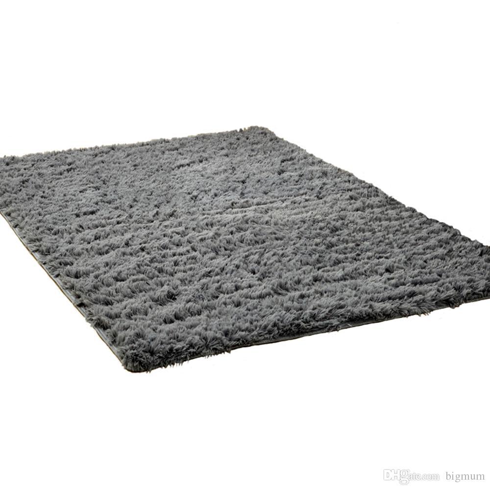 Alfombra de felpa mullida alfombra antideslizante para la sala de estar Dormitorio alfombra suave y cómoda felpudo colorido para el hogar