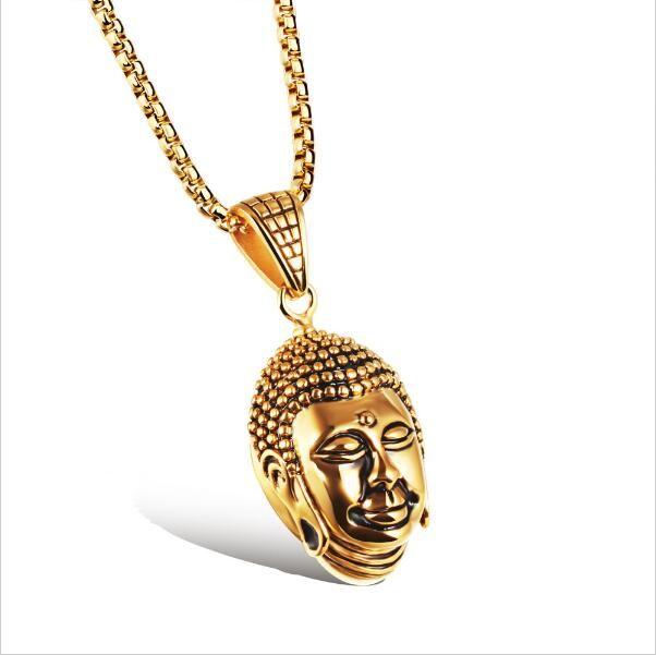 ZHF BIJOUX Chaude Tathagata Bouddha titane titane collier transport sécurité dominateur homme bijoux en gros TGX1055