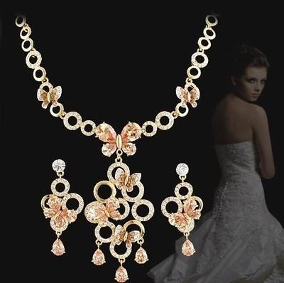zircon diamond flower set orecchini da sposa da sposa (spwhy) oops
