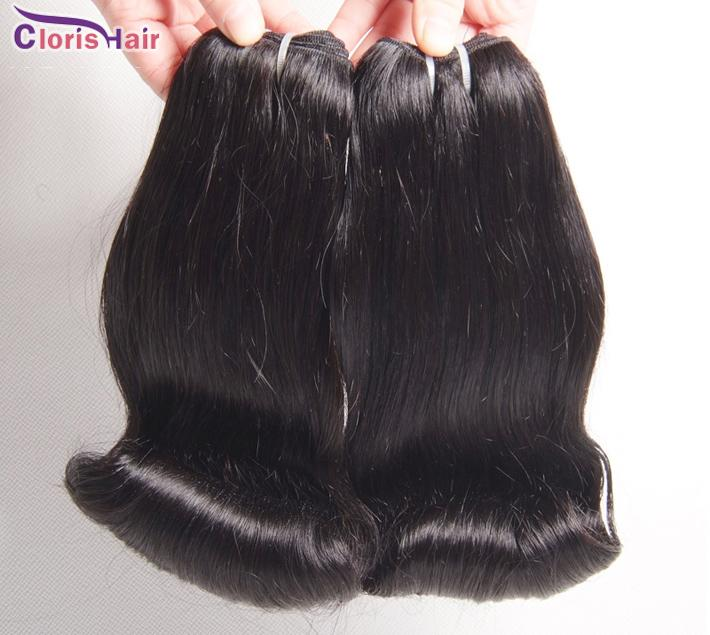 Smooth Unprocessed Aunty Funmi Hair Bouncy Romance Curls Peruvian Human Hair Extensions 3 Bundles Funmi Short Bob Style Weave