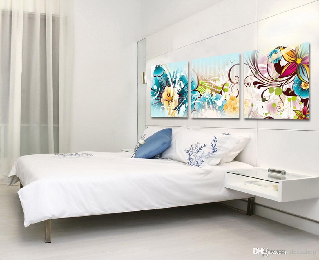 Belas Flores Abstratas Pintura Floral Giclee Impressão Na Lona Home Decor Wall Art Set30111