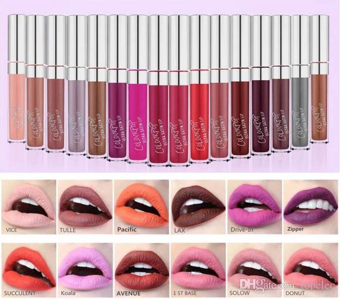 ColourPop Ultra Matte velvety Liquid Lipstick Matte liquid Lipgloss lax vice succulent zipper Waterproof Lip Gloss free shipping DHL 60230
