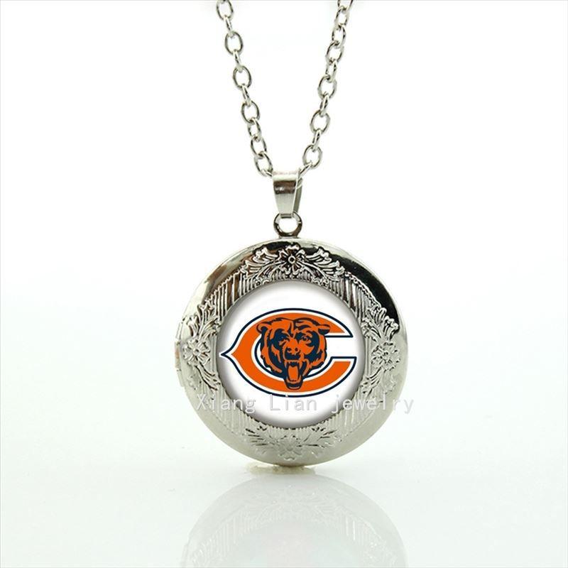 Out of the ordinaire animal image médaillon collier bijoux occasionnel accessoire de sport de l'équipe de football pour garçons et filles NF101