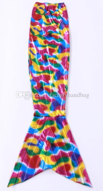 new colours Mermaid fish tail jumpsuit unitard leotard zentai morph catsuit costume cosplay Glue tights suit