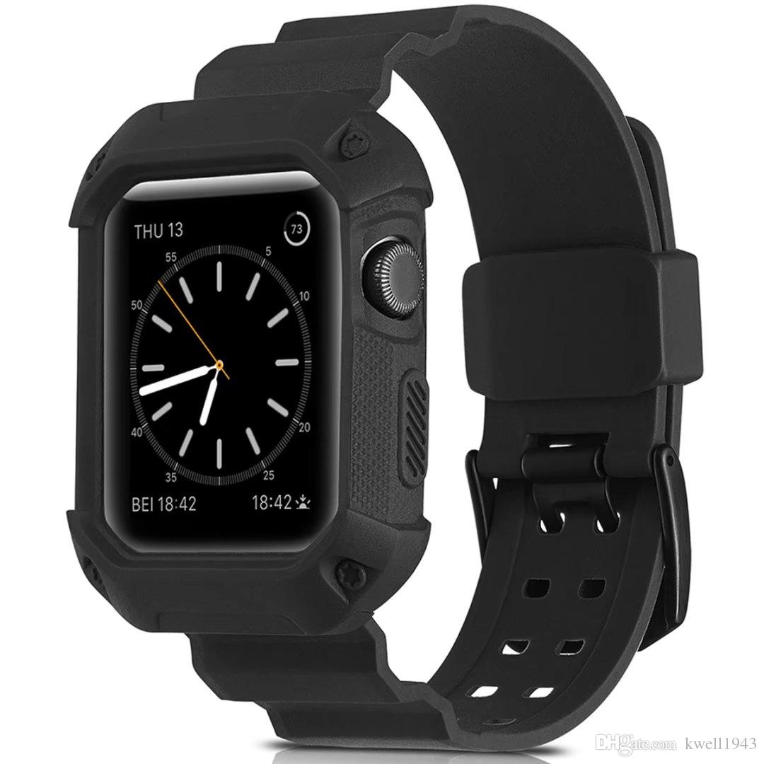 reputable site 2aaf1 28c80 For Apple Watch Series 3 2 1 Tough Armor Soft TPU Full Protective Case Band  Strap Cover Black Case Watches Spigen Watch Case From Kwell1943, &Price;|  ...