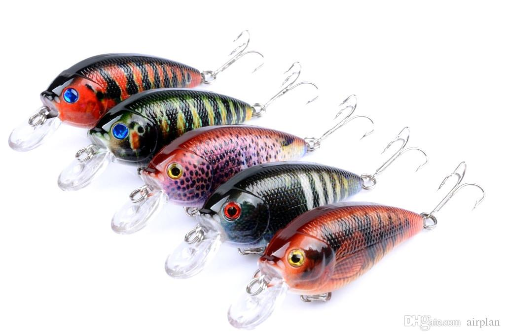 5pcs of Topwater Fishing Lure Artificial Crankbait Hook Fake Lures Pesca Fishing Bait Accessories Pesca Hooks Leurre Peche