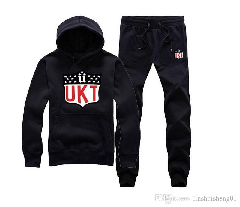 2017 New Fashion Mens Sportswear Casual crooks Sweatshirt Unkut sweat suit Sports Suit, Men Leisure Outdoor Hoodie Tracksuit free shipping