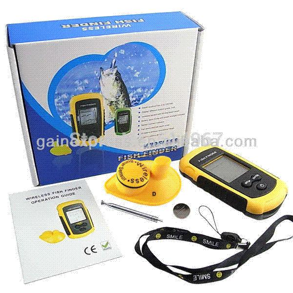 portable dot matrix wireless sonar sensor lucky fish finder alarm, Fish Finder