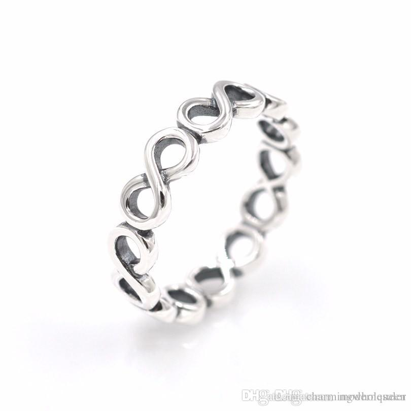 Infinite Shine ring women's S925 sterling silver fits for pandora style bracelet and charms jewellery Free Shipping