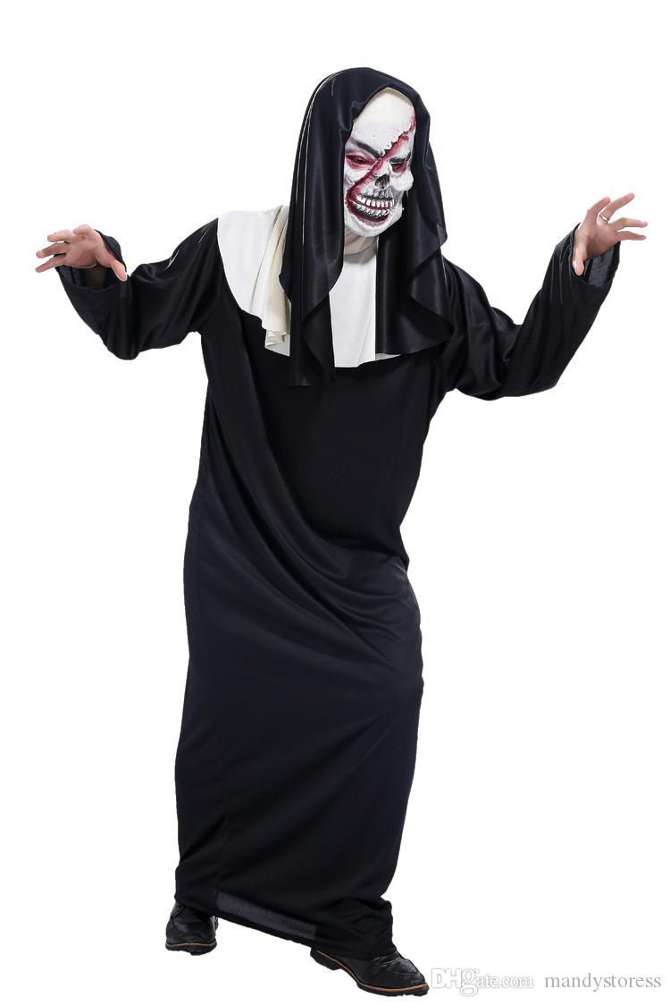 2017 Halloween Masquerade Men Died Movie Scream Ghost God Clothing ...