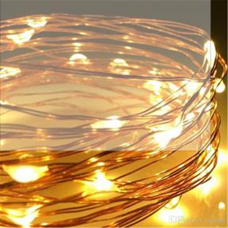 100*5m 50 Led Battery Multi Color Ultra Thin Copper Wire Led Rice ...