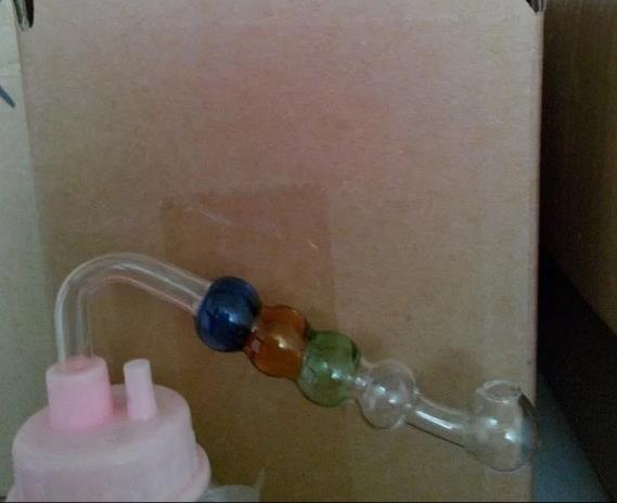 A cor é pote de bolha quádrupla - tubulação de fumo do cachimbo de água de vidro Gongos de vidro - plataformas petrolíferas bongs de vidro cachimbo de água do cachimbo de água - vap-vaporizer