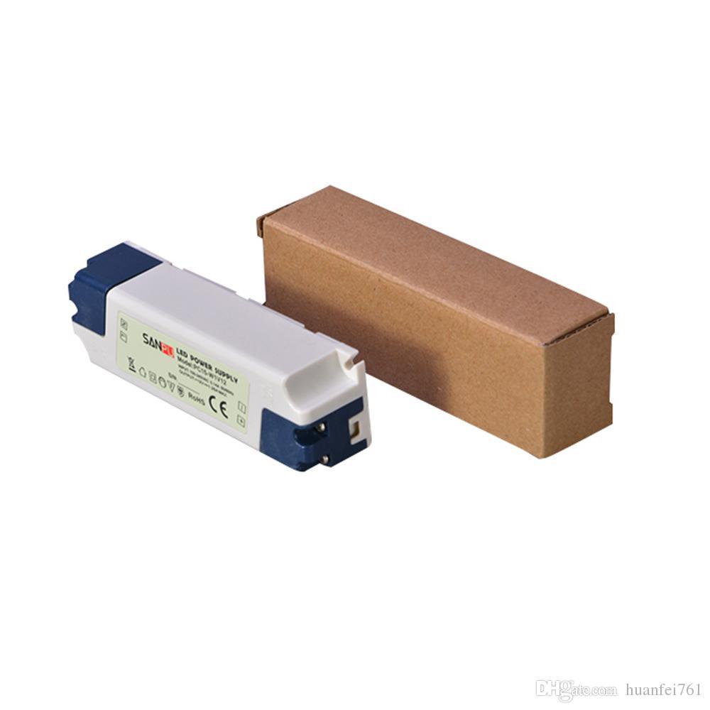 Sanpu SMPS LED Driver Zasilacz 12V 24 V DC 15W Plastikowy IP44 Zastosowanie wewnętrzne Stały napięcie AC-DC Transformator do taśm LED 12W