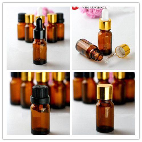 768pcs / Lot 10ml 유리 dropper 빈 병 E 주스 E 액체 유리 병 10ml for Essential Oil DHL Free
