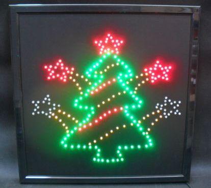 SEGNO LED LAMPEGGIANTE ALBERO DI NATALE GRANDE TAGLIA 48CM X 48CM