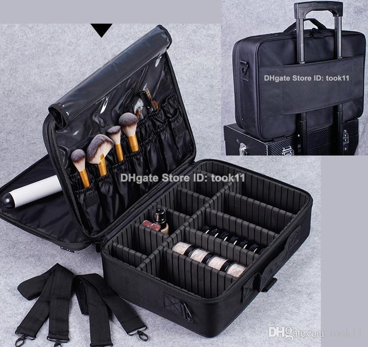 2019 Professional Makeup Artist Bag Waterproof Cosmetics Storage Organizer Beauty Vanity Case Make Up Travel Bag For Makeup Brushes Hair Curler From