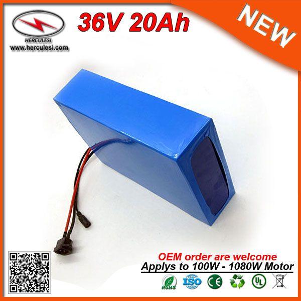 Sostituzione ebike della batteria 36V 20Ah (720Wh) litio Akku 18650 Li Ion Battery Pack 30A BMS per il motore 1000W 750W 500W