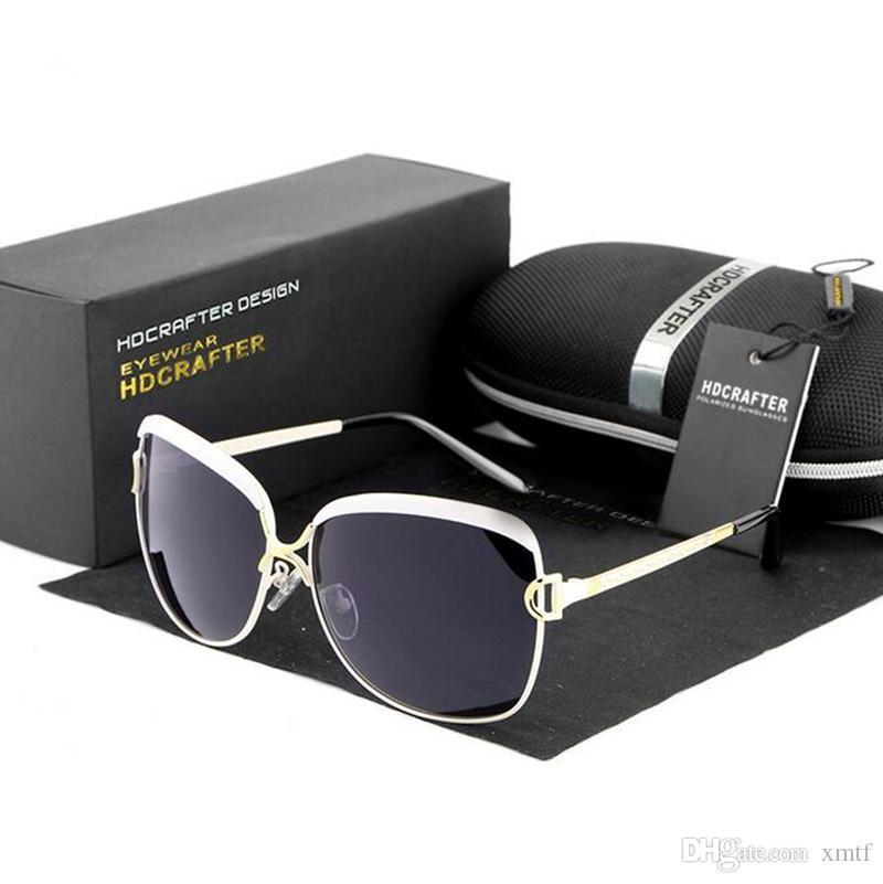 Высокое качество мода поляризованные линзы солнцезащитные очки для женщин Star Style Vintage солнцезащитные очки UV400 защита металлический каркас оттенки с оригинальной коробке