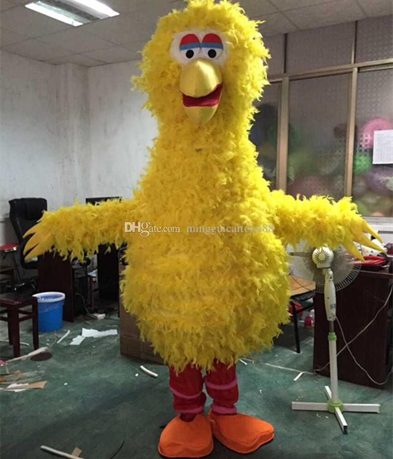 Disfraz de dibujos animados de pájaro amarillo Ropa de dibujos animados Disfraz de mascota de pájaro grande Disfraces de personaje de dibujos animados Disfraz de mascota Disfraz Fiesta Sui