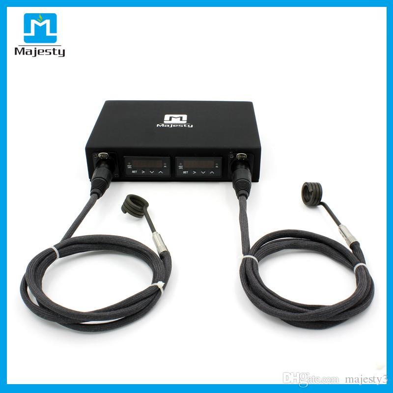 Scatola di controller di temperatura kit scatola di lumaca doppia maga doppia Majesty con 2 riscaldatori a batteria pc spedizione gratuita DHL
