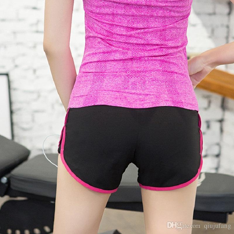 Summer Sexy Women's Yoga Sports womens gym shorts Fitness Yoga Running Gym Elastic Quick-drying Shorts compression shorts