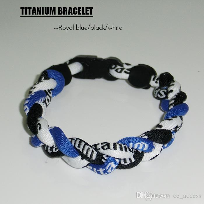 Blau /& Titan Karabinerverschluss Armband Kletterer Geschenk Titan Armband