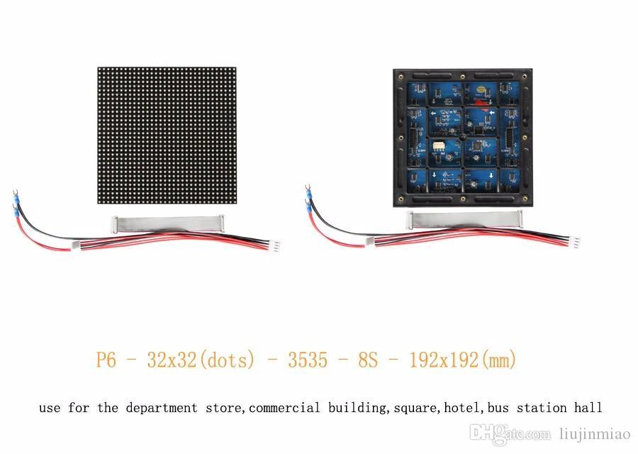 Módulo P6 SMD3535 Full Color Hero Display LED 192 * 192MM de alta qualidade P6 SMD Outdoor 3-IN-1 Módulo LED RGB para p6 levou tela