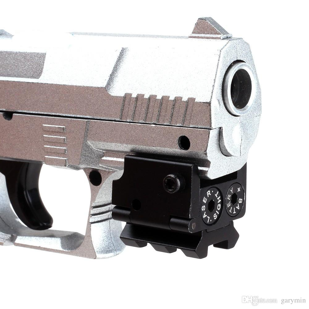 Mini Ajustável Tactical Compact Red Dot Laser Sight Scope Fit Para Arma Pistola Com Rail Mount 20mm (ht034)
