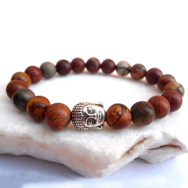 SN0564 Großhandel 2016 Neue Ruhe armband Männer Buddha Jasper armband Yoga armband Picasso Jasper Buddhist armband Freies Verschiffen