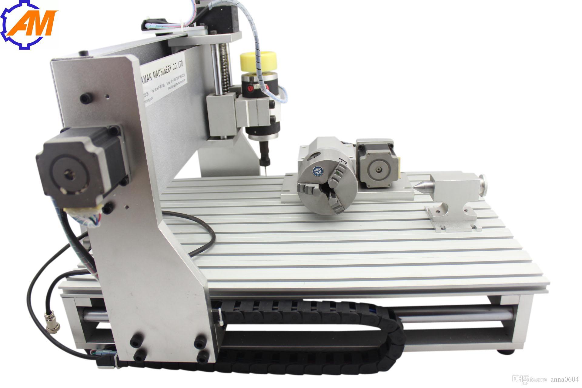 petites machines pour les entreprises, mini machine de tour cnc à vendre chaud AMAN 3040 800W, machine de gravure de bureau cnc