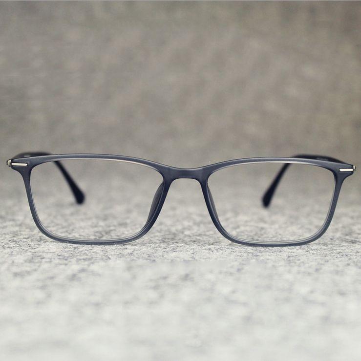 Wholesale-2016 Business Männer Marke Square Tungsten Brillengestell Vintage Flexilbe Myopie Carbon Steel Brillen Computer Brillen Oculos