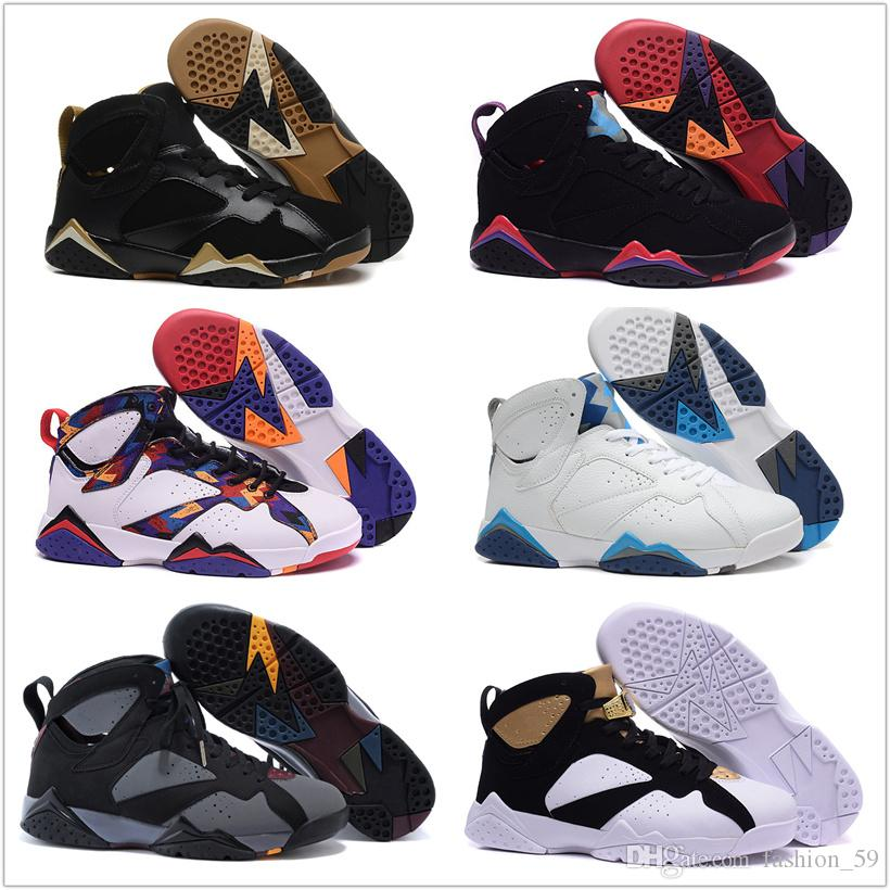 brand new 35b79 e453e Online Retro 7 Basketball Shoes Men Cheap 2016 VII Boots 100% Original Sneakers  Hot Sale Leather A7 Sport Shoes Free Shipping