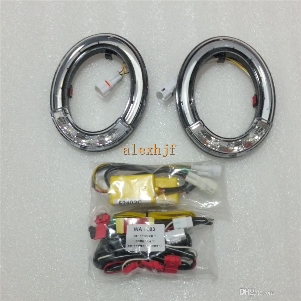 Araba yönlendirici adanmış DRL LED gündüz farları NISSAN QASHQAI 2007 ~ 2013 için sis lambası durumda LED, sis lambası positon yapıştırma
