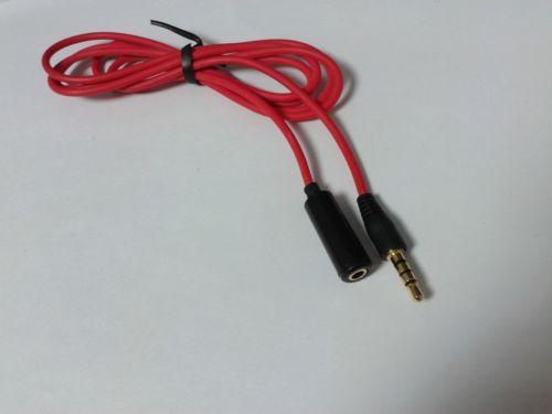 2PCS 3.5mm 4-Pole Stereo Male à 4 Pôles Stéréo Femelle AX Câble d'Axtension 1.2M