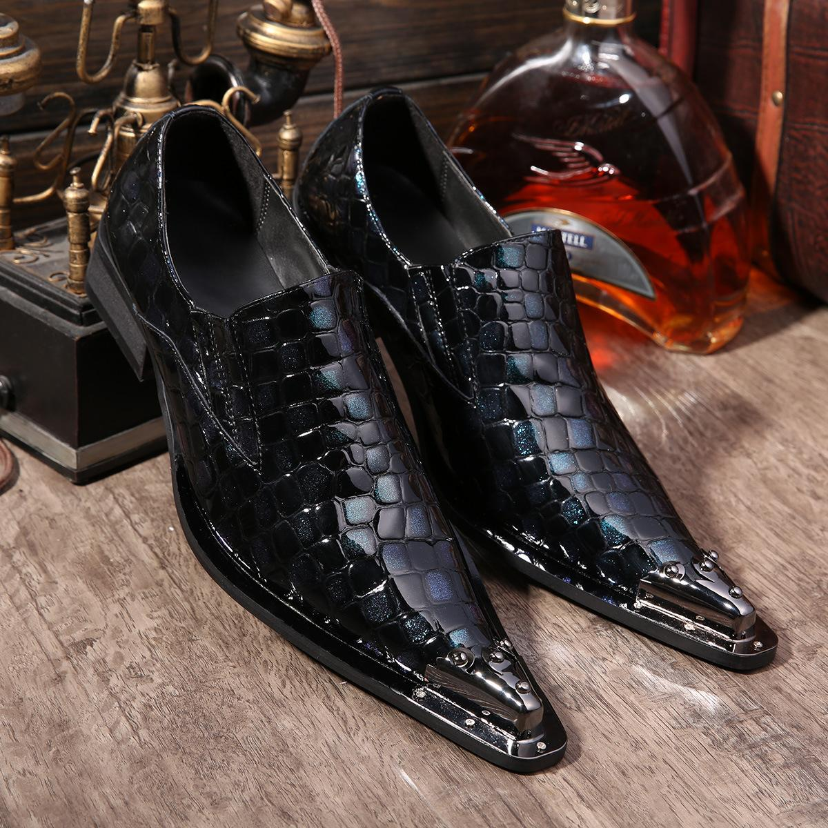 new fashion Men/'s point toe casual party business formal Dress Shoes plus size