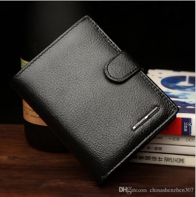 2016 Nuovi uomini di marca Portafogli in vera pelle Primo strato di pelle Piccola borsa da uomo Moda Breve portafoglio Migliore borsa borsa regalo