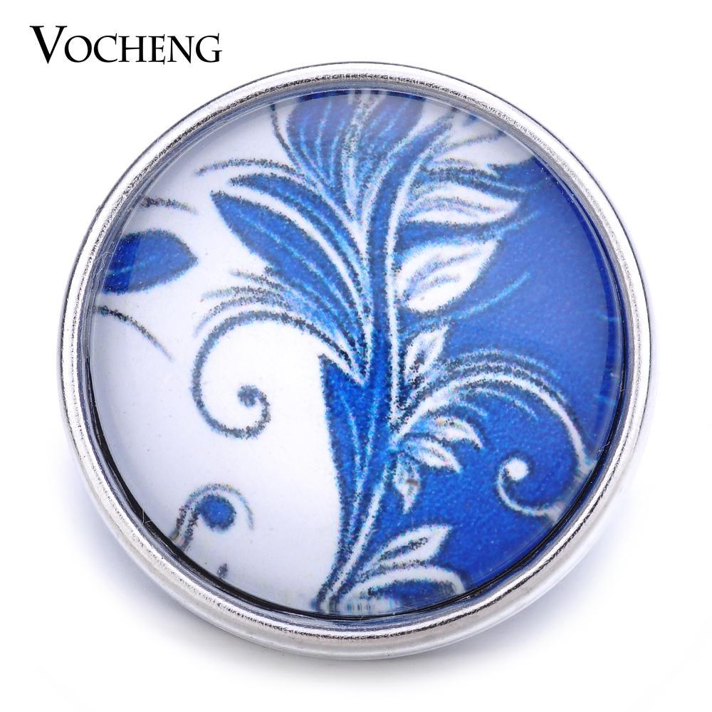 VOCHENG NOOSA gros bouton de verre interchangeable 18mm bouton pression bijoux Vn-1251