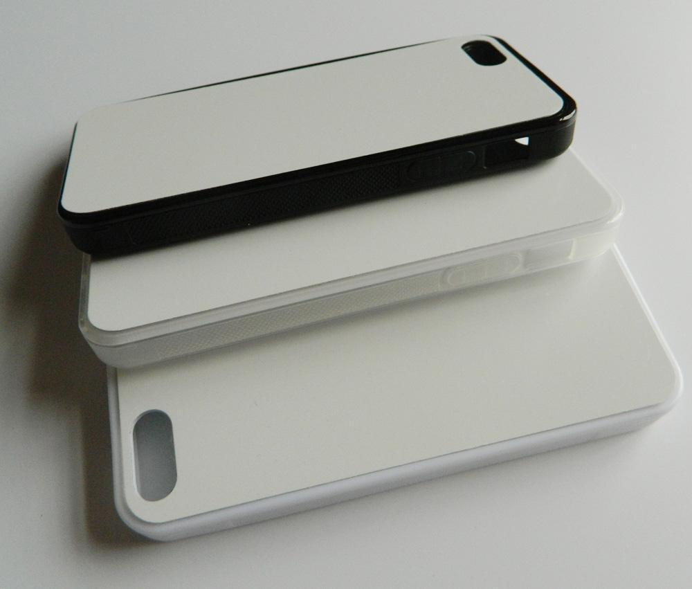 2D حالة TPU المطاط ل iPhone 5S SE حالة التسامي + لوحة معدنية فارغة 100pcs / lot