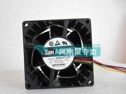 Ventilateur de refroidissement éolien d'origine Sanyo 9G0824P1G03 24V 0.56A 8CM 8038
