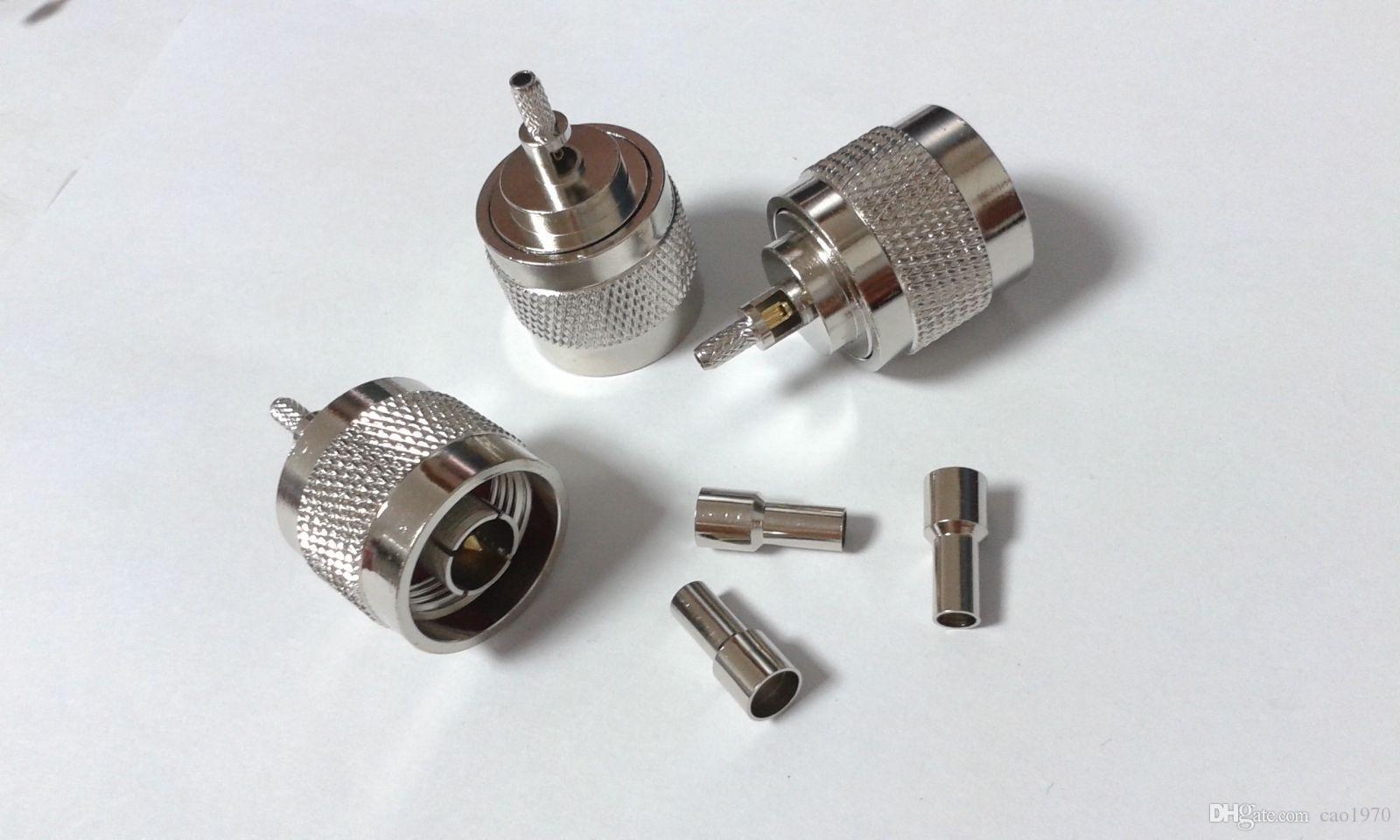50 pcs N Plug Mâle Connecteur Adaptateur Connecteur pour RG316 RG174 Câble coaxial