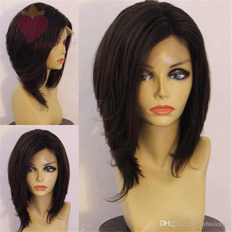 New fashion bob full lace wigs lace front wig glueless Human Hair Wigs for black women african american with baby hair