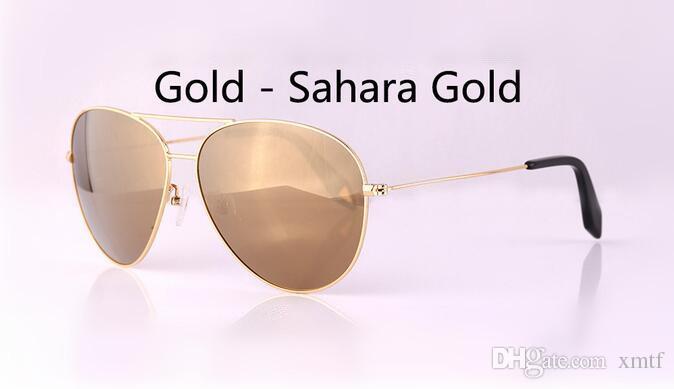 Alta Qualidade óculos de Sol Das Mulheres Dos Homens Piloto Óculos De Sol Espelho Clássico óculos de sol polarizados Óculos de Sol Da Marca de Designers Óculos Unisex 58mm