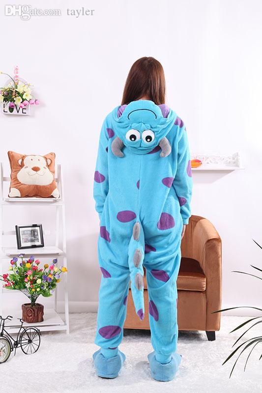 Wholesale-Sullivan Bull Blue Onesies Unisex Sleepsuit Adult Pajamas Cosplay Costumes Animal Onesie Sleepwear Jumpsuit For Male Famale