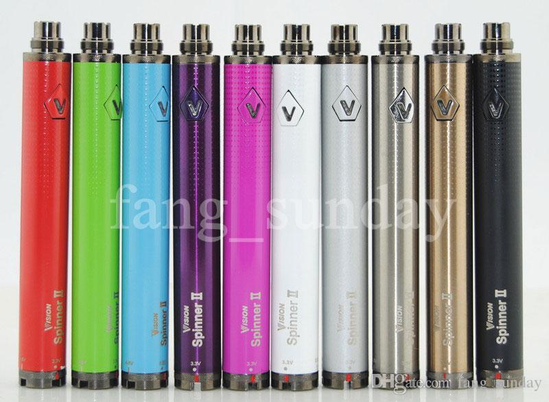2019 Ecigarette Vape Pens Battery Vision 2 Spin II Ego C Evod Twist Adjustable 3.3-4.8V Variable Voltage 1650mAh Vaporizer & USB Charger