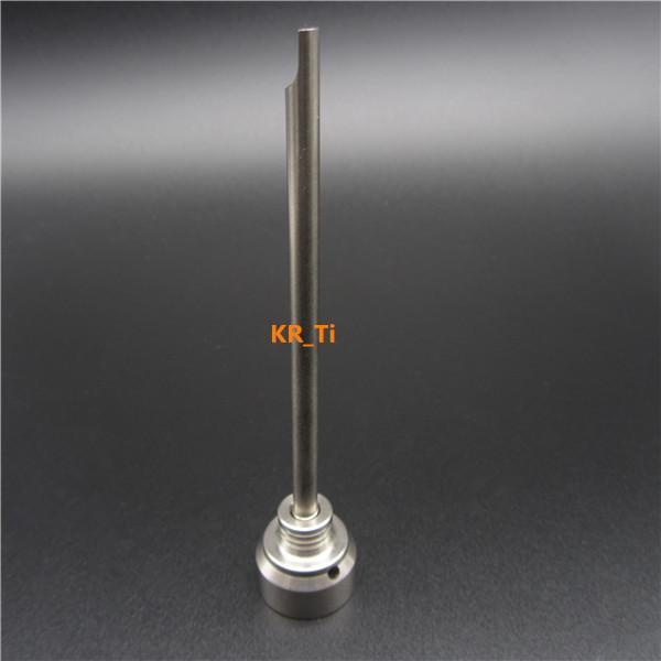 뜨거운 판매 티타늄 carb 캡 상단에 티타늄 dabber와 10mm 티타늄 네일 유리 봉에 대 한 하나의 직각 구멍