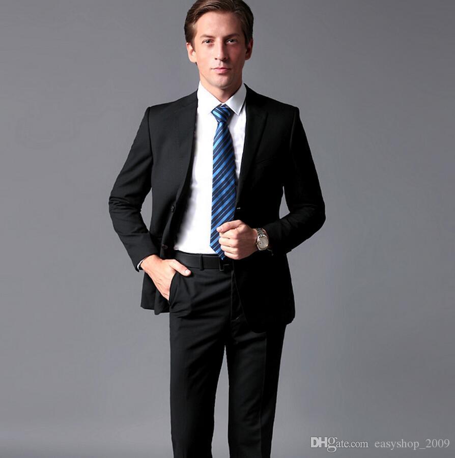 القادمون الجدد زرين كلاسيكي أسود العريس البدلات الرسمية الذروة التلبيب رفقاء العريس أفضل رجل يناسب الرجال الدعاوى الزفاف (سترة + بنطلون)